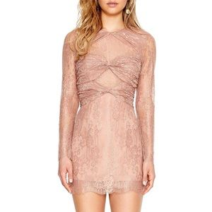 Alice McCall Not Your Girl Lace Dress in Cinnamon